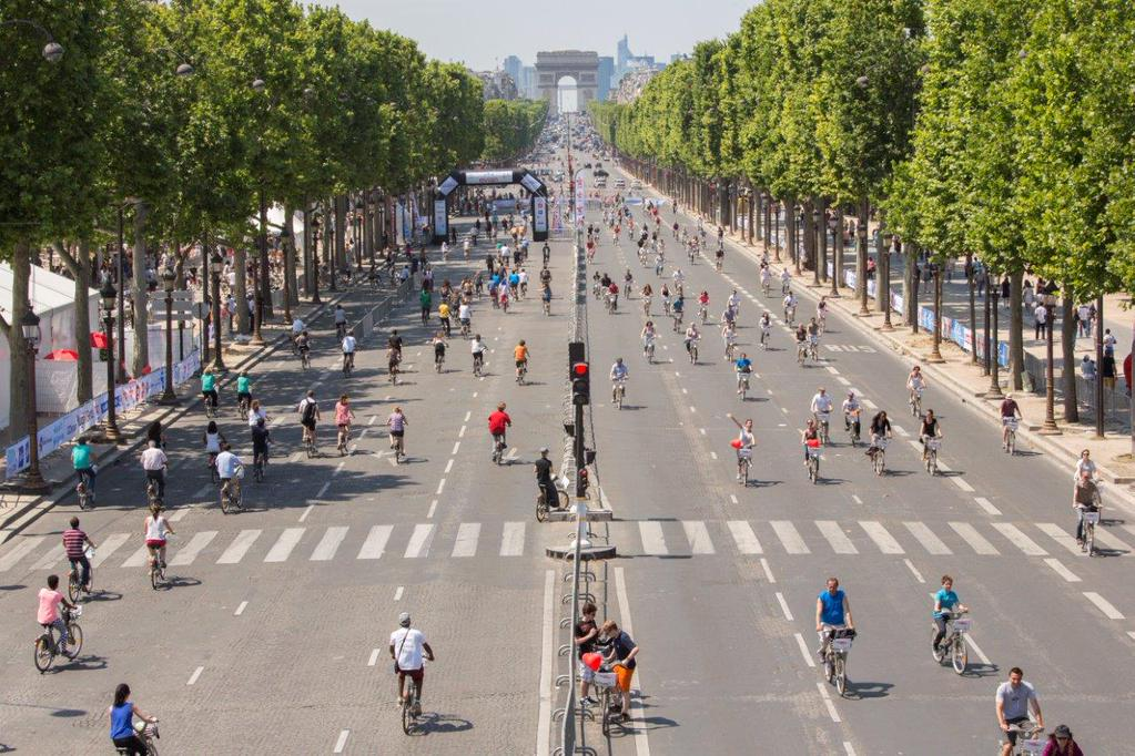 A car-free day i  Paris on 27 Sep.
